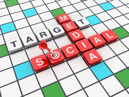 Crossword Series: SOCIAL MEDIA - High Quality 3D Rendering