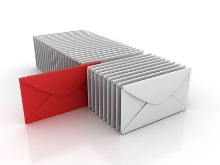 Choice Envelope - High Quality 3D Rendering Stok Fotoğraf