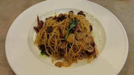 clams: Clams Spaghetti Stock Photo