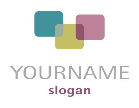 violett: Logo Verbundene F�chen in t�rkis gr�n violett Illustration