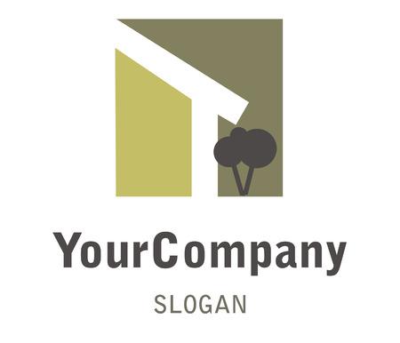den: Logo f�r den Bereich Haus- und Gartenbau Illustration