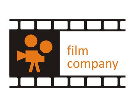 schwarz: Logo bestehend aus Filmstreifen und Kamera f�r den Bereich Film, Kunst, Fotografie
