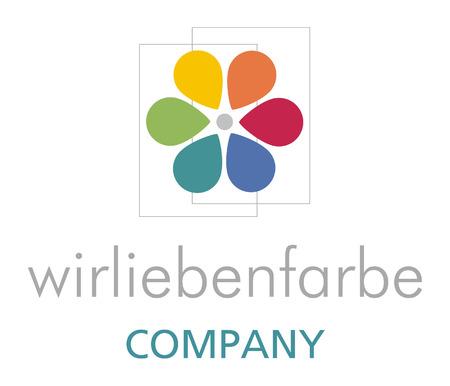 bunt: Logo Blume mit bunten Bl�ttern