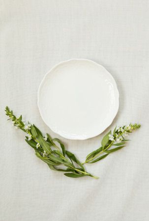 White blank plate Stock Photo