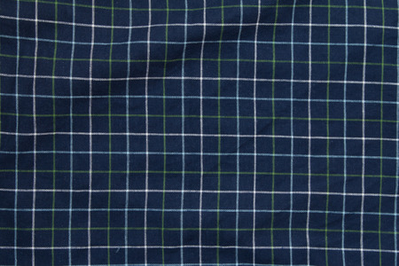 dazzlingly: Top view of white and green lines on blue plaid