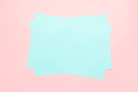 Colorful of soft green and pink paper background. Stock Photo