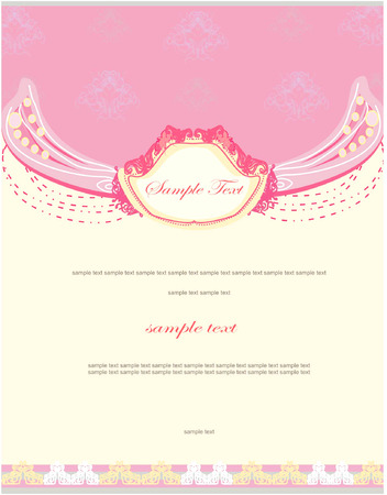 Invitación de boda  Foto de archivo - 8400821
