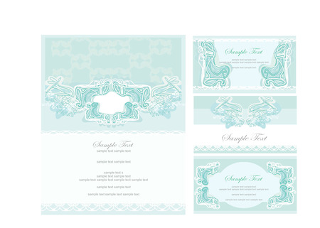 Vector template business card and invitation  Stock Vector - 8400818