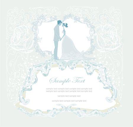 wed beauty: elegant wedding invitation