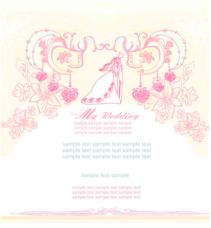 Invitación de boda elegante  Foto de archivo - 8440451