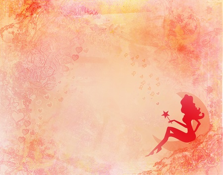 background with a fairy Stock Photo - 8736735