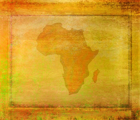 art materials: grunge abstract illustration of the continent Africa Stock Photo