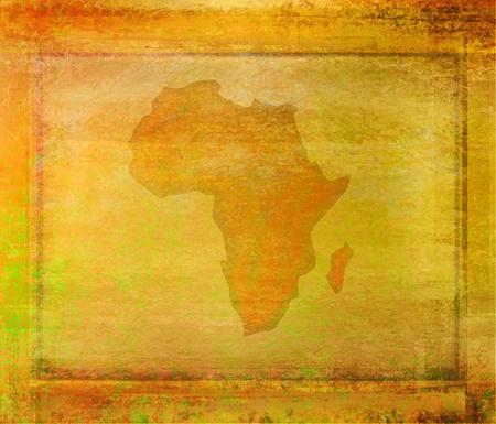 continente africano: Ilustración abstracta grunge del continente África