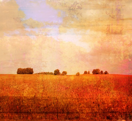 An Artistic Messy Grunge Landscape Stock Photo - 9881218