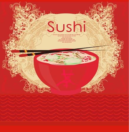 sushi: template van de traditionele Japanse keuken menu