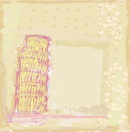 Pisa tower grunge background Stock Vector - 11115003