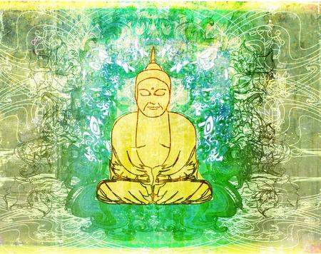 hopeful: Chinese Traditional Artistic Buddhism Pattern