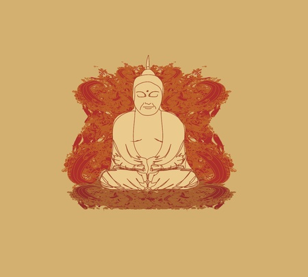 stroke of luck: Vector of Chinese Traditional Artistic Buddhism Pattern