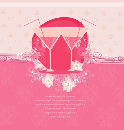 Invitation To Birthday Cocktail Party      Ilustracja