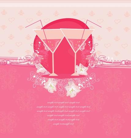 Invitation To Birthday Cocktail Party      Illustration