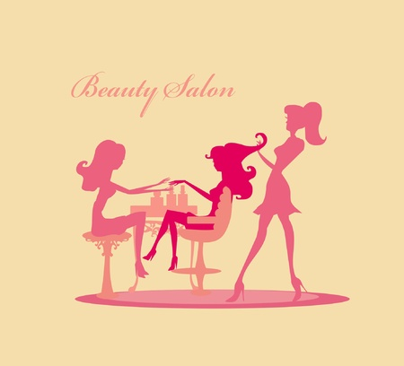 illustration of the beautiful woman in beauty salon        Vector