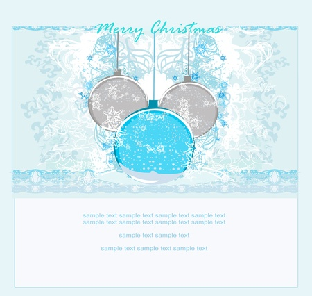 Christmas Framework style card.          Stock Vector - 11477345