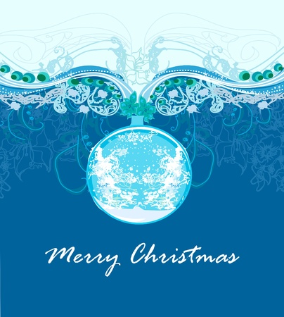 Christmas Framework style card. Stock Vector - 11477342