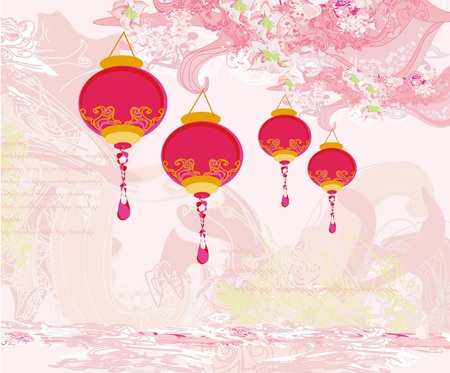 chinese new year element: Chinese New Year card. Illustration