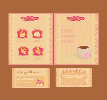 menu coffee shop and restaurant set       Vector