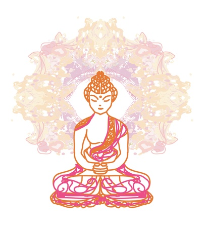 chinese buddha: Vector of Chinese Traditional Artistic Buddhism Pattern