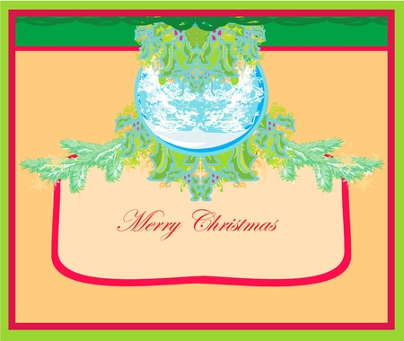 Christmas Framework style card.  Stock Vector - 11563600