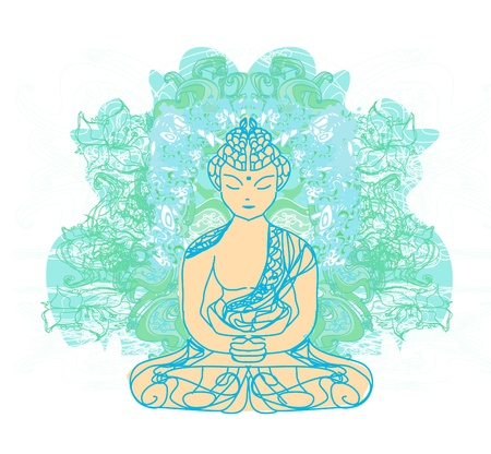 buddism: Vector of Chinese Traditional Artistic Buddhism Pattern