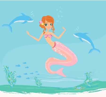Illustration of a Beautiful mermaid Stock Vector - 11563614