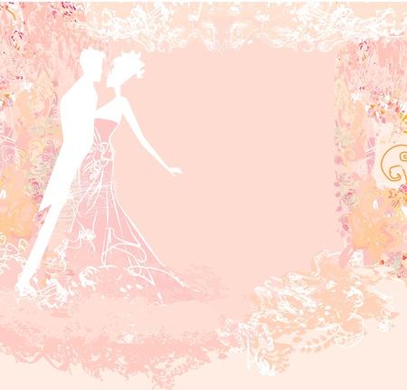 wedding dancing couple background Illustration