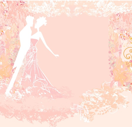bridegroom: wedding dancing couple background Illustration