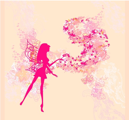 floral background with a beautiful fairy Stock Vector - 11658034