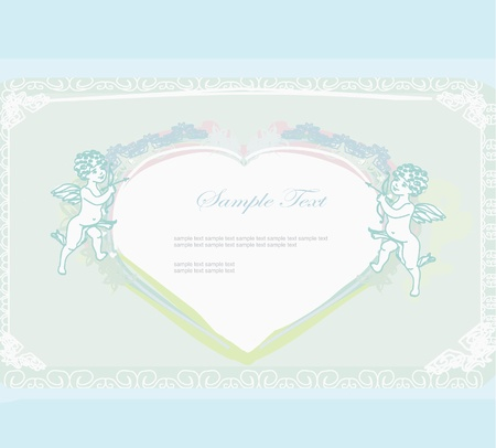 happy valentines day card with cupid Stock Vector - 11812297