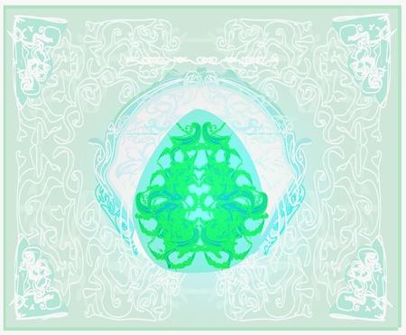 Easter Egg On Grunge Background Stock Vector - 11812340