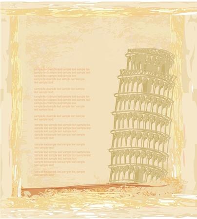 vector pisa tower grunge background Stock Vector - 11812349