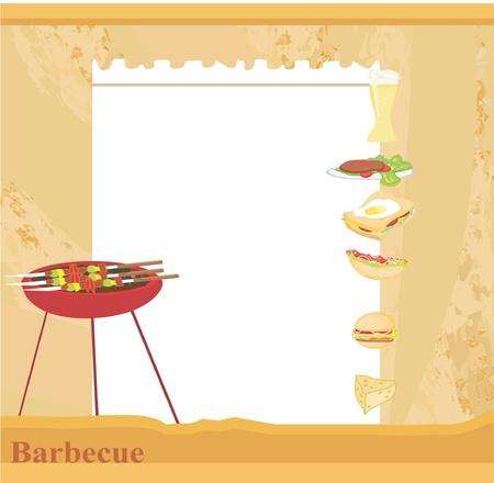 salmon steak: Barbecue Party Invitation