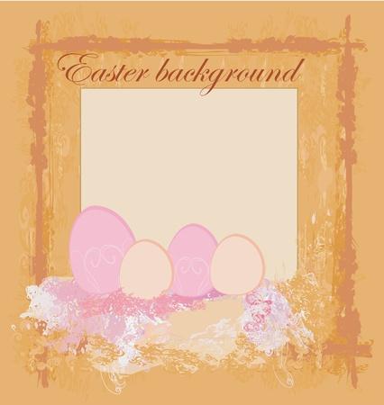 Easter Egg On Grunge Background Stock Vector - 11812371