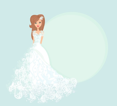 exhilaration: Beautiful bride card  Illustration