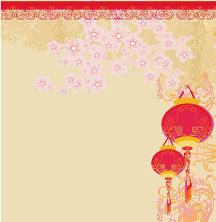 Chinese New Year card, vector Vector