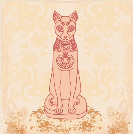 cartoon egyptian: Stylized Egyptian cat