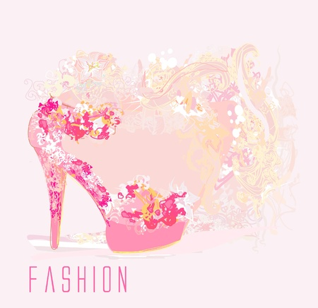 shoes vintage poster  Vector
