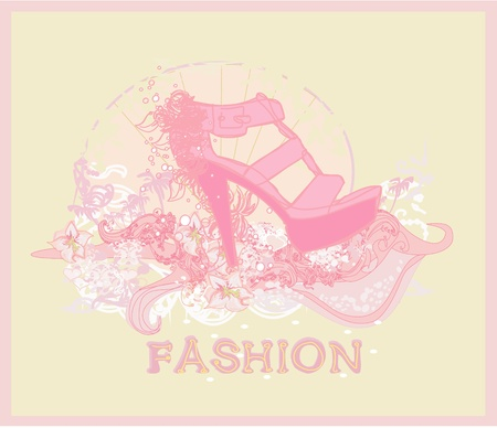 shoes vintage poster Stock Vector - 11899088
