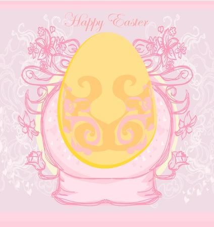 Easter Egg On Grunge Background Stock Vector - 11899083