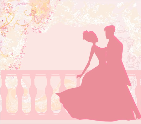 outline wedding: Ballroom dancers - invitation