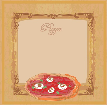 Pizza Menu Template Vector Illustratie