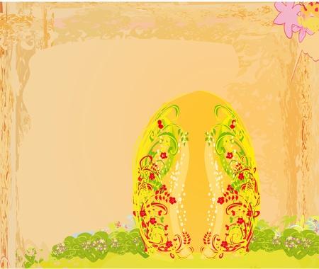 Easter Egg On Grunge Background  Stock Vector - 11899136